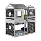 Stevenson Bunk Bed, Gray and Green
