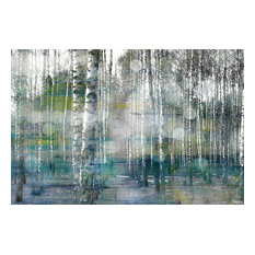 """""""Tree Trunk Lights"""" Painting Print on Wrapped Canvas, 45""""x30"""""""