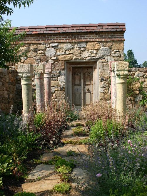 Antique columns houzz for Jonathan alderson landscape architects