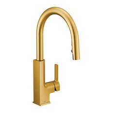 Moen One-Handle Pulldown Kitchen Faucet Brushed Gold, S72308BG