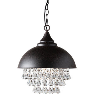 Viona Crystal Pendant Light Rust