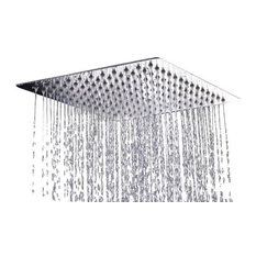 AKDY Home Improvement   AKDY Square Stainless Steel Shower Head, Chrome  Finish, With Arm