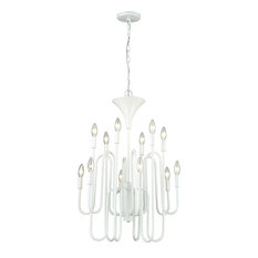 Tupper 12 Light Chandelier in Matte White