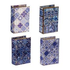 "4-Piece Book Boxes 5.5""x4""x2"""