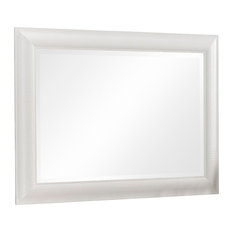 Contemporary Rectangular Wall Mirror, White, 75x105 cm