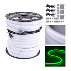 150' Led Neon Rope Light Outdoor Christmas Party Flexible Tube, Green