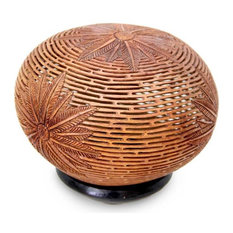 Novica Palm Fronds Coconut Shell Sculpture