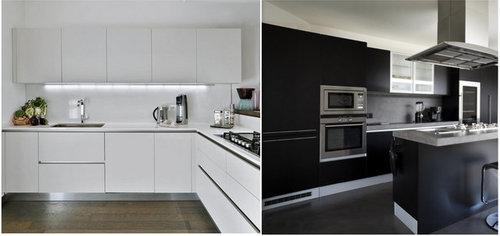 Cucina bianca o nera - Cucina bianca top nero ...