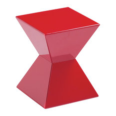 Sunpan Modern Home   Rocco End Table, Red   Side Tables And End Tables
