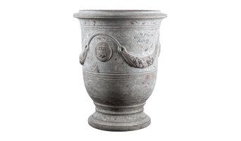 Vase d'anduze patine grise