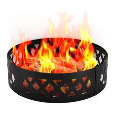 """Crossweave 38"""" Backyard Light, Wood Fire Ring"""