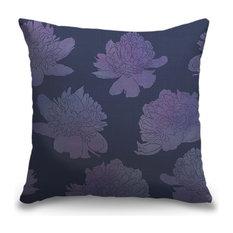 """Descending Peonies Lavender"" Pillow 16""x16"""