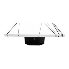 Furniture Import & Export Inc. - White and Black Marble Coffee Table - Coffee Tables