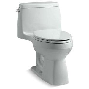 Kohler Santa Rosa 1-Piece Elongated 1.6 GPF Toilet w/ Left-Hand Lever, Ice Grey