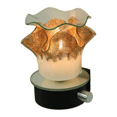 Frosted White & Bronze Glitter Plug In Scented Oil/Tart Warmer