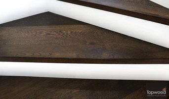 White riser stairs