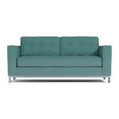 Fillmore Apartment Size Sleeper Sofa, Seafoam, Deluxe Innerspring Mattress