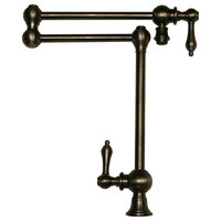 Vintage III Patented Deck Mount Pot Filler, Lever Handles and Swivel Aerator
