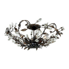 Vaxcel Lighting C0023 Jardin Semi-Flush Mount Light, Architectural Bronze