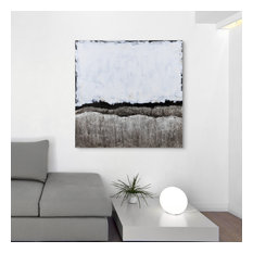 White Atmosphere Textured Metallic Hand Painted Wall Art by Martin Edwards