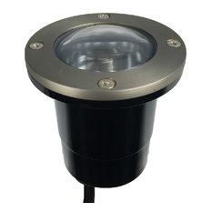12V Composite Ground Well Light With Open Face Cover, Satin Nickel Brass