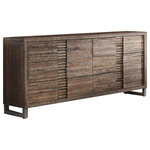 Acme Furniture - Andria Dresser, Reclaimed Oak - Keep your wardrobe organized with the rustic Andria Dresser. This charming six-drawer dresser is made of wood in a reclaimed-oak finish and features metal legs.