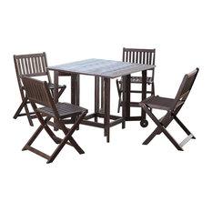 Eucalyptus Folding Chairs, Set of 4