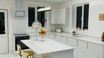 White & Gold Accent Kitchen