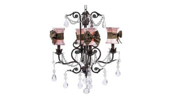 Cassidy Pink and Chocolate 4 Arm Chandelier