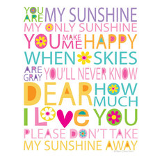 Pastel You Are My Sunshine Print, 11""