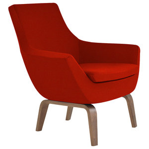 Heed Upholstered Lounge Chair Midcentury Armchairs And