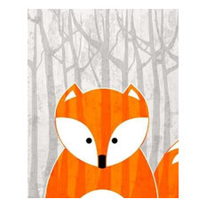 Woodland Fox by Kimberly Allen Canvas Print