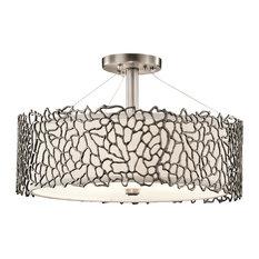 Silver Coral Duo Pendant Lamp