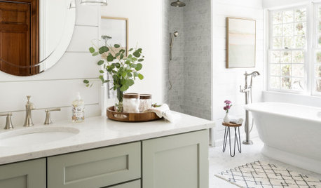 Room Tour: Crisp White and Sage Green Refresh a Tired Bathroom