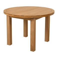 Edmonton Solid Oak Oval Extending Dining Table, 110-140 cm