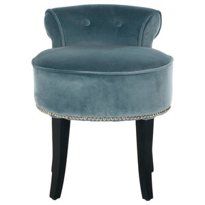 Safavieh Gabriella Vanity Stool, Dusty Blue