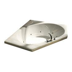 Atlantis Tubs 6060E Eclipse 60x60x23 Inch Corner Soaking Bathtub