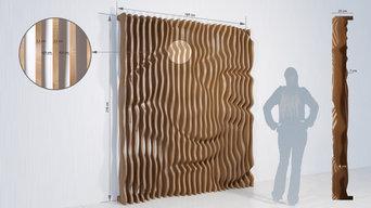 Tableau Décoratif 3D en Lames de Bois