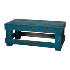 Barnwood Coffee Table, Turquoise