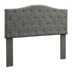 Almerria Contemporary Style Tufted Full/Queen Headboard In Gray