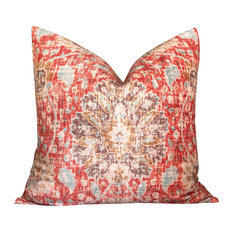 Persian Disstressed Pillow In Strawberry.