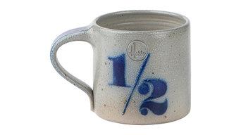 """Salt-Glazed Stoneware Mug, """"1/2"""""""