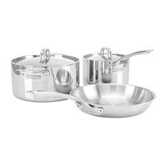 Viking  3-Ply 5-Piece Cookware Set, Mirror Finish