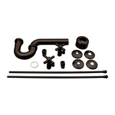 Traditional Pedestal Lavatory Kit - Cross Handles In Oil Rubbed Bronze