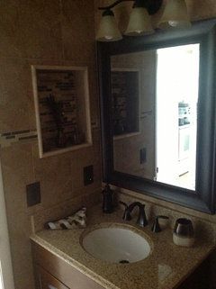 Bathroom re-done by Me, :) first time what do you think?