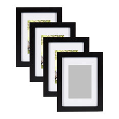 """Gallery Wood Picture Frame, Set of 4, Black, 11""""x14"""""""