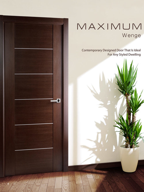 Modern european interior doors for Modern interior doors
