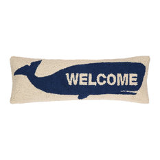"""Welcome"" Whale Hook Pillow"