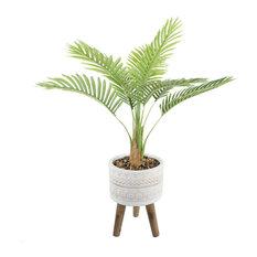 "41"" Palm in 10"" Tribal Fiberglass on Stand"