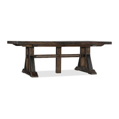 """Roslyn County Trestle Dining Table With 2 21"""" leaves"""